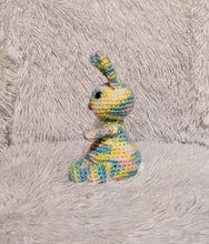Load image into Gallery viewer, Small Crocheted Bunny - Rainbow