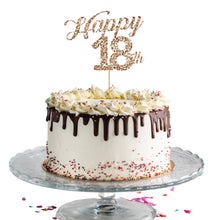 "Load image into Gallery viewer, ""Happy 18th"" Customizable Cake Topper"