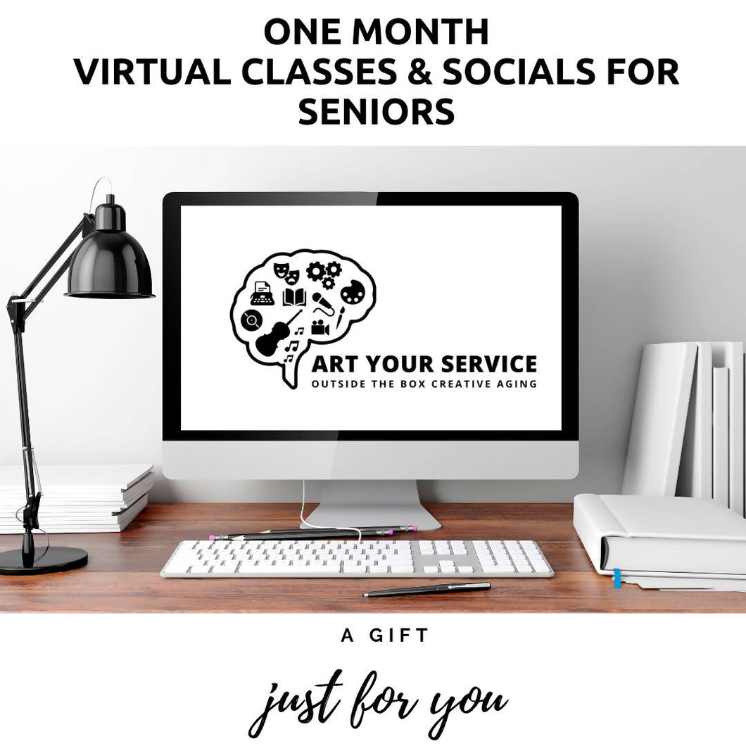 One Month of Virtual Classes & Socials for Seniors!