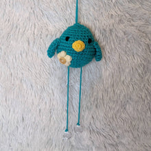 Load image into Gallery viewer, Small Crocheted Hanging Bird - Teal