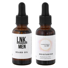 Load image into Gallery viewer, His & Hers Moisture Bundle - Beard Oil and Moisturizing Face Oil
