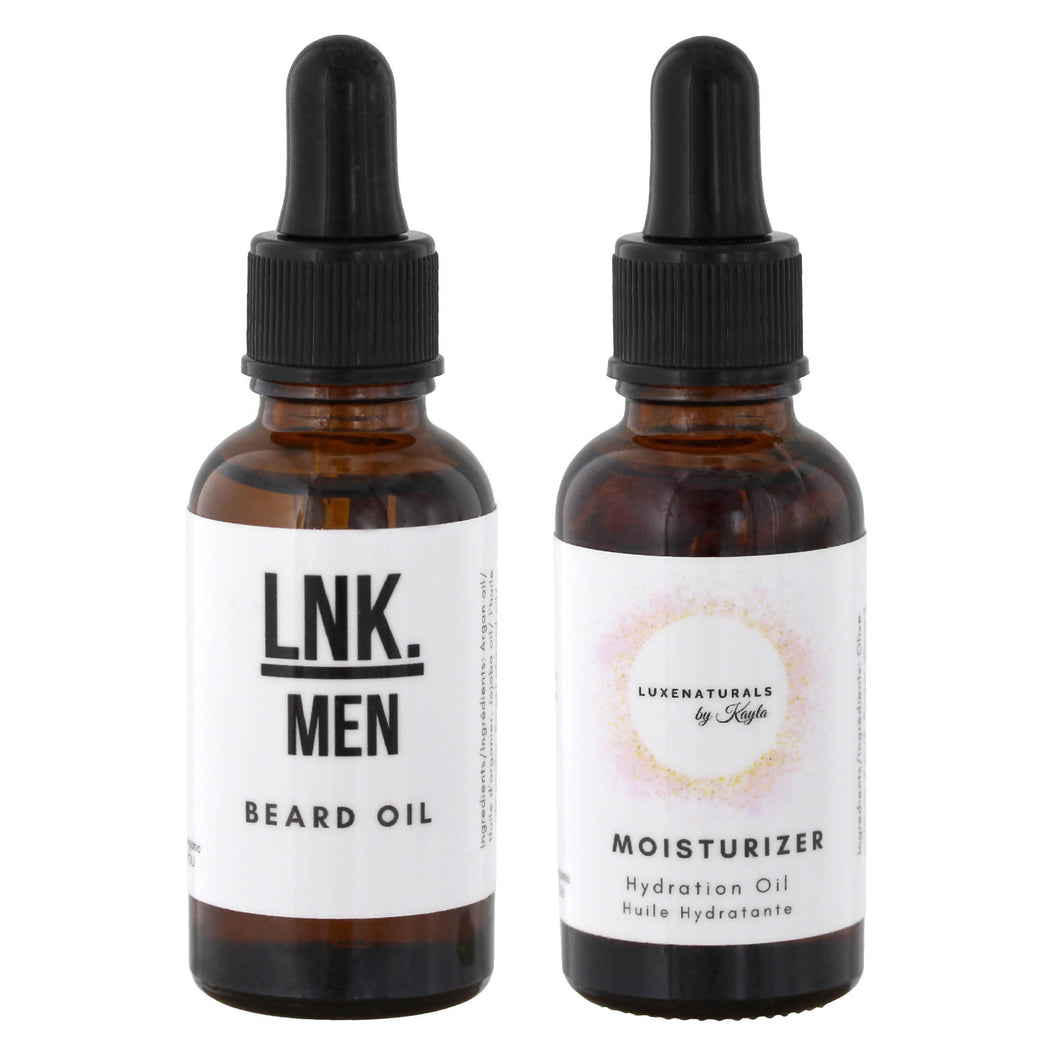 His & Hers Moisture Bundle - Beard Oil and Moisturizing Face Oil