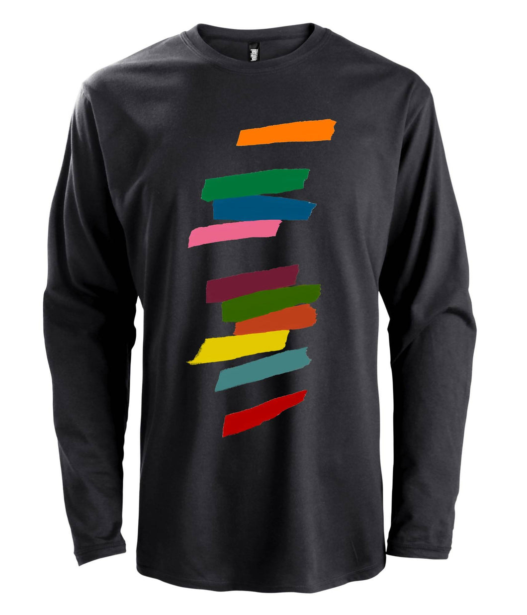 Men's Organic Cotton T Shirt - Design: Long Sleeve Tempo Giusto