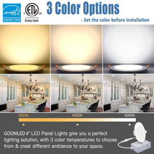 "Load image into Gallery viewer, 4"" Slim LED Recessed (3CCT) Color Changeable (10 Pack)"
