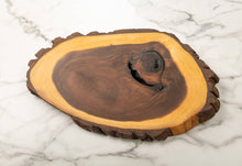 Load image into Gallery viewer, Black Walnut Charcuterie Board with Bark & Knots