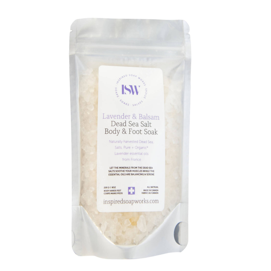 Dead Sea Salt Body & Foot Soak - Lavender Balsam Blend - 8oz