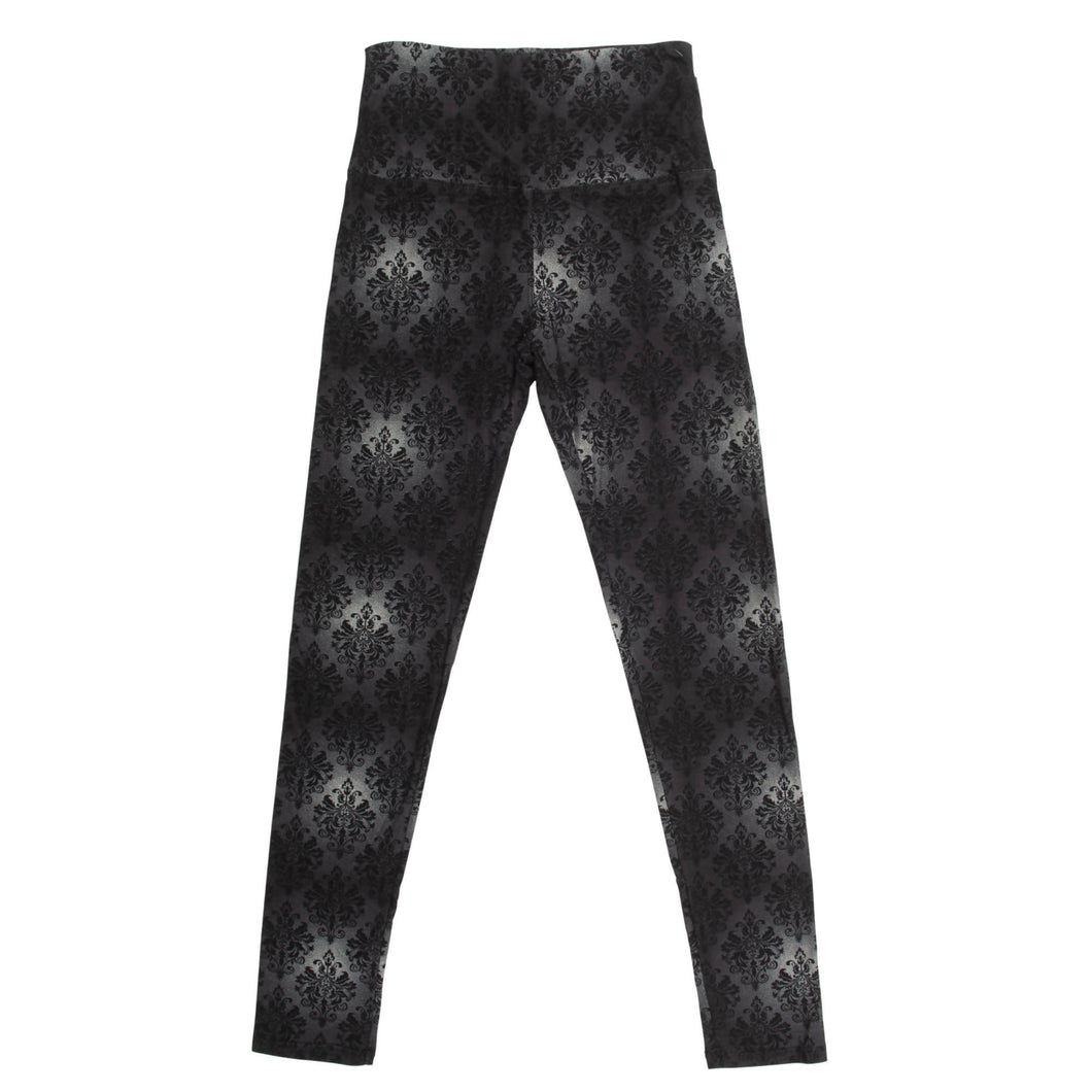 Sweet Cheeks Leggings in Black and Grey - One Size