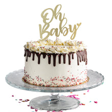 "Load image into Gallery viewer, ""Oh Baby"" Cake Topper"