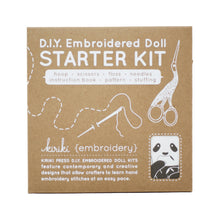 Load image into Gallery viewer, Kiriki Press - DIY Embroidered Doll Starter Kit - Panda