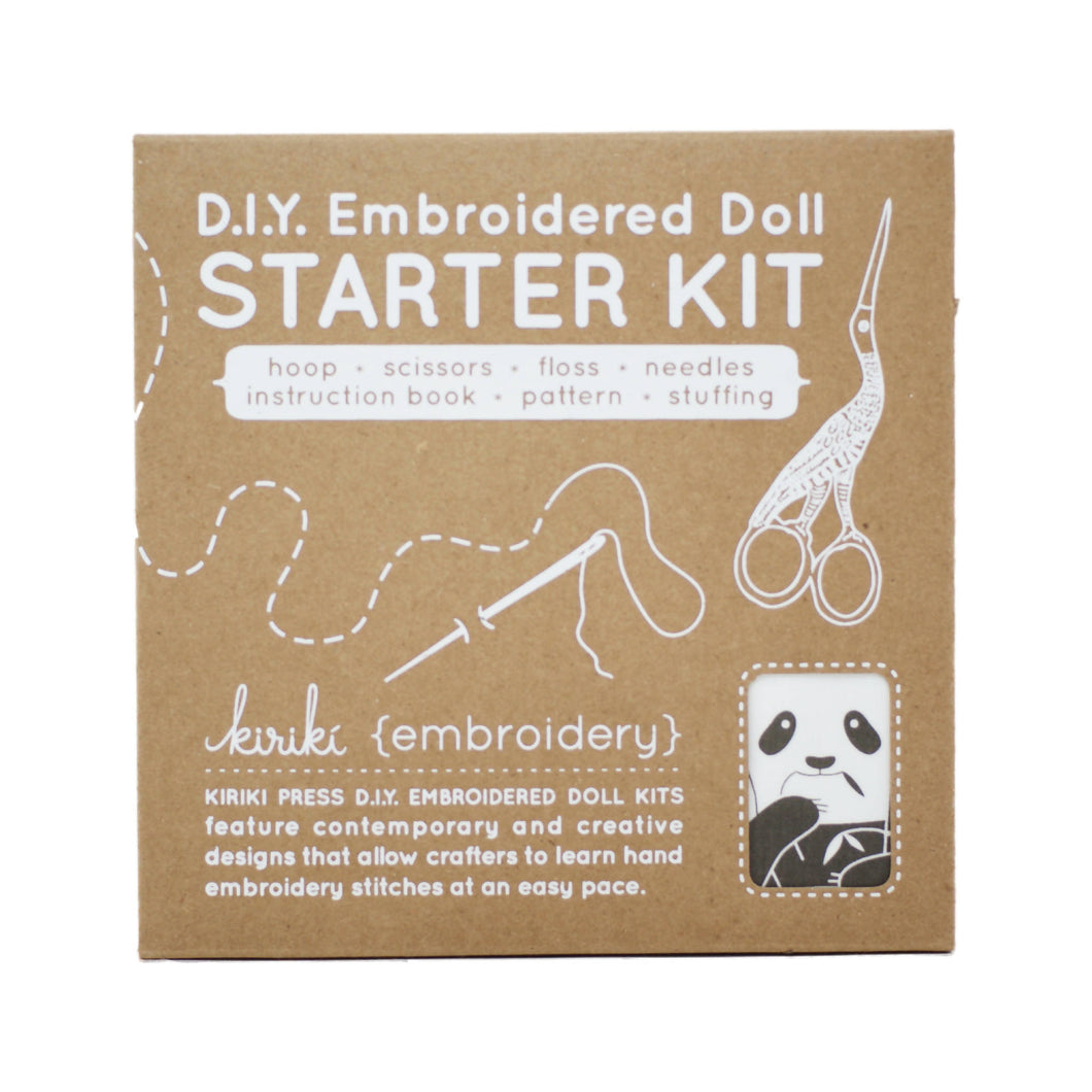 Kiriki Press - DIY Embroidered Doll Starter Kit - Panda