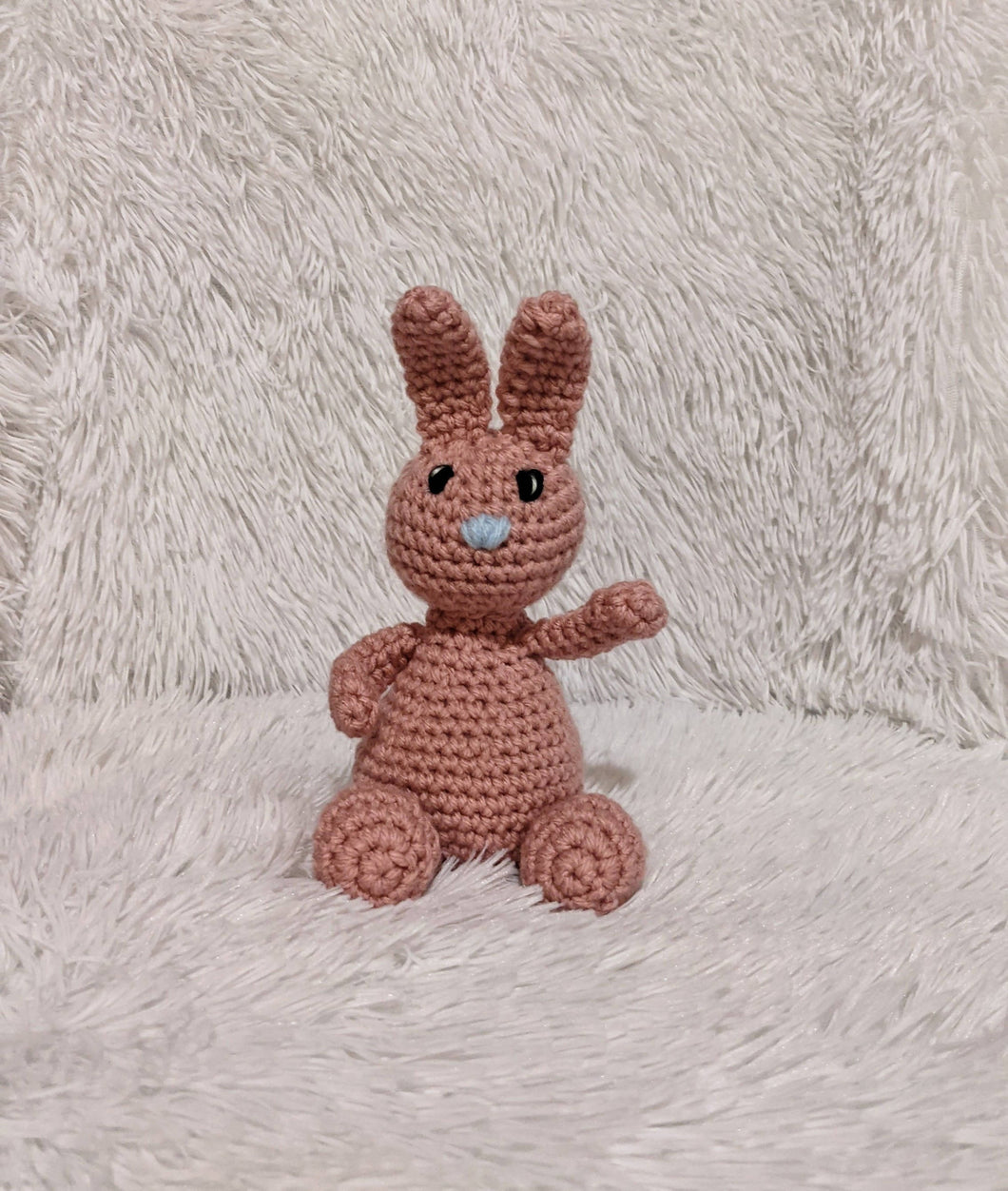 Small Crocheted Bunny - Pink