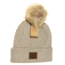 Load image into Gallery viewer, CC Diagonal Knit Hat - various colours