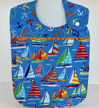 Load image into Gallery viewer, Toddler Bib - Sailing