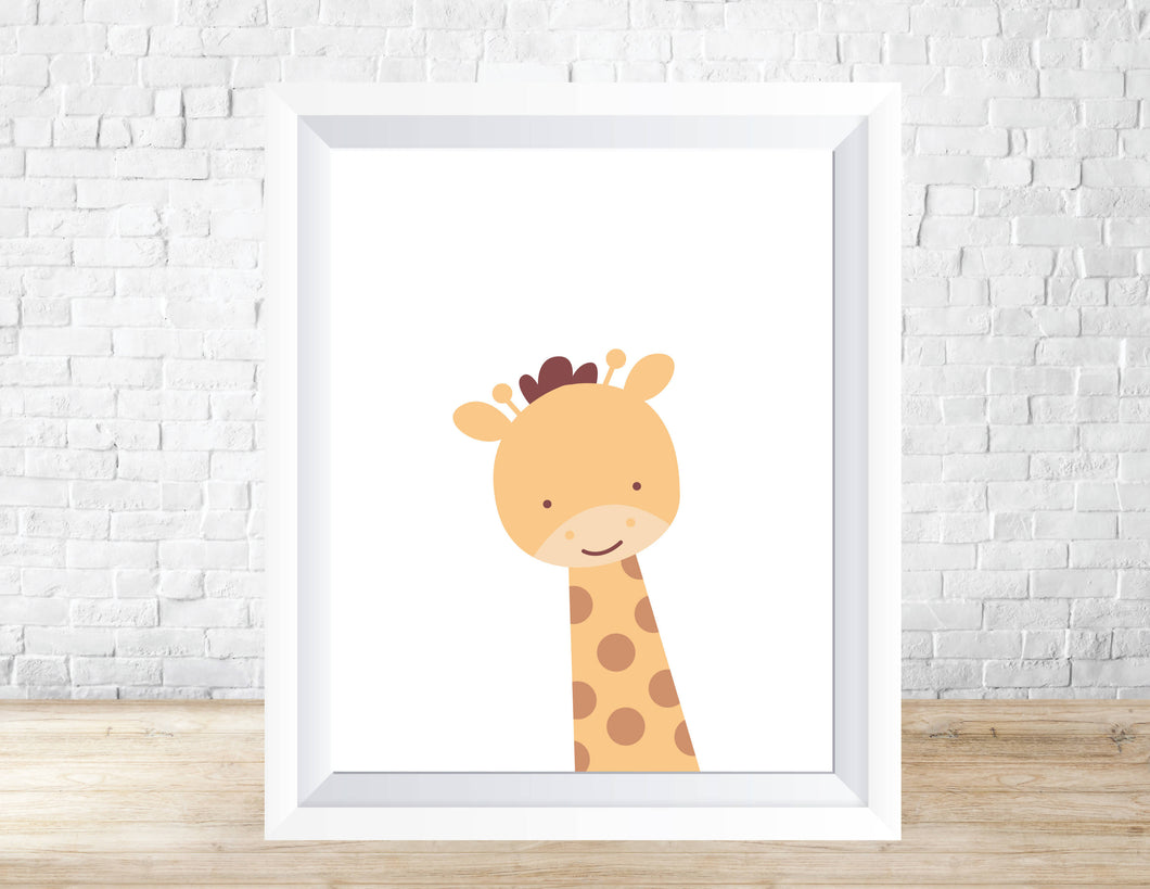 Printable Nursery Home Decor/Wall Art - Giraffe