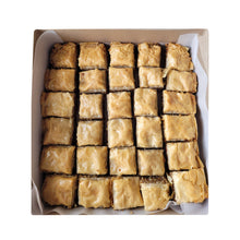 Load image into Gallery viewer, Walnut Almond Bakhlava - 30 Pieces in a Window Box