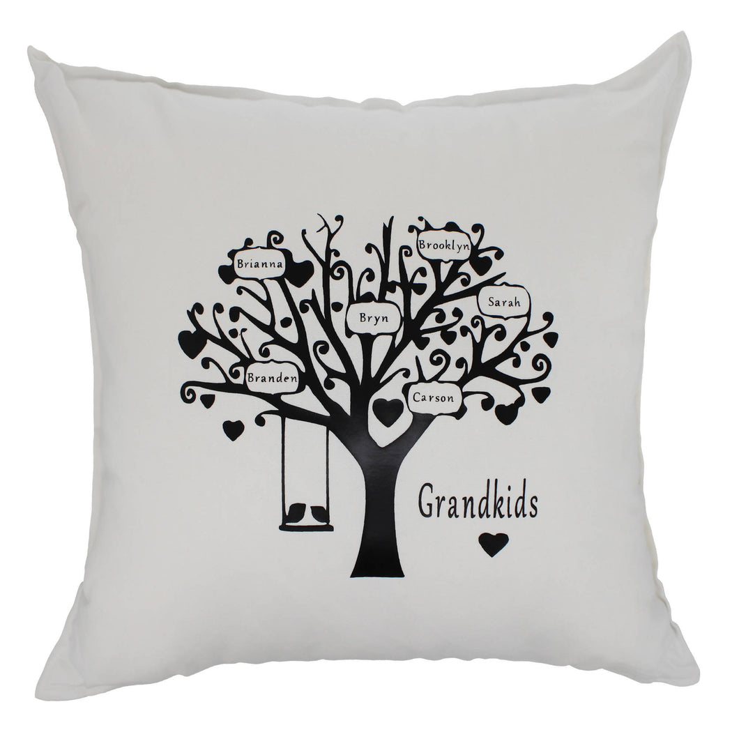 Pressed Out Creations Family Tree Pillows - Custom Pillow With Family Names