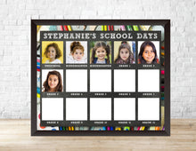 Load image into Gallery viewer, Kids' Yearly Class Photo Display Template - School Days