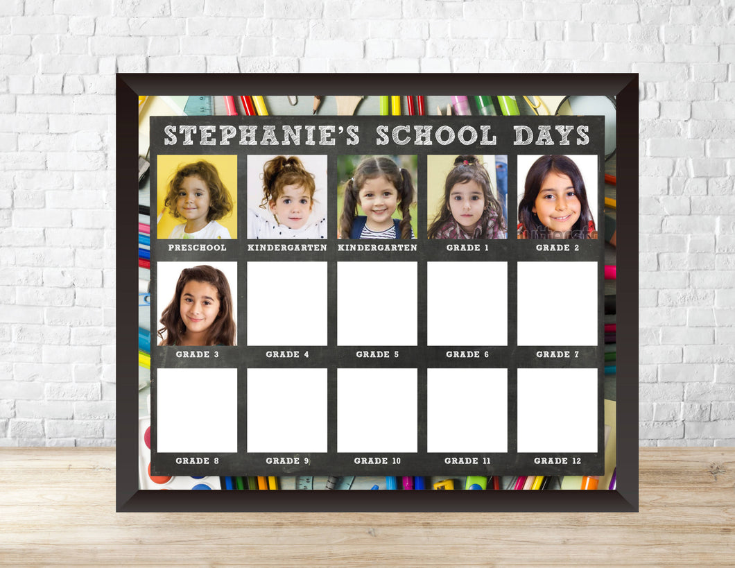 Kids' Yearly Class Photo Display Template - School Days