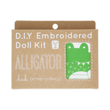 Load image into Gallery viewer, Kiriki Press - DIY Embroidered Doll Kit - Alligator