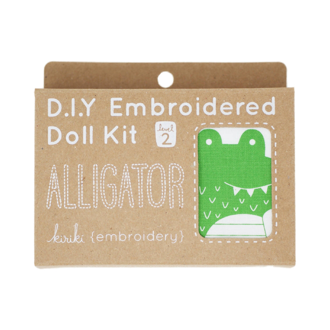 Kiriki Press - DIY Embroidered Doll Kit - Alligator