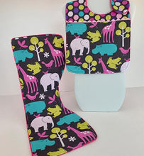 Load image into Gallery viewer, Infant Bib & Burp Cloth Set - Pink Safari