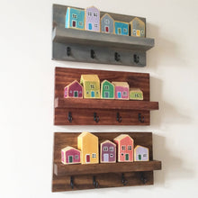 "Load image into Gallery viewer, ""Little Houses"" Decorative Mask/Key Hooks"