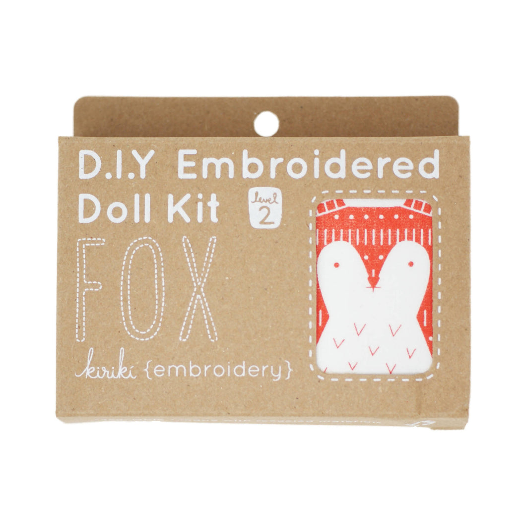Kiriki Press - DIY Embroidered Doll Kit - Fox