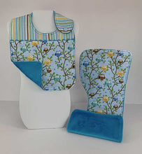 Load image into Gallery viewer, Infant Bib & Burp Cloth Set - Owls