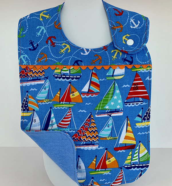 Toddler Bib - Sailing