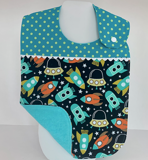 Toddler Bib - Blast Off