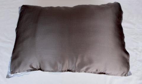 Bold Bronze 100% Silk Travel Pillow Topper