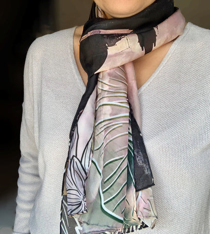 Valletta in the Mist Silk Scarf