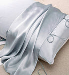 Light Grey 100% Silk Travel Pillow Topper