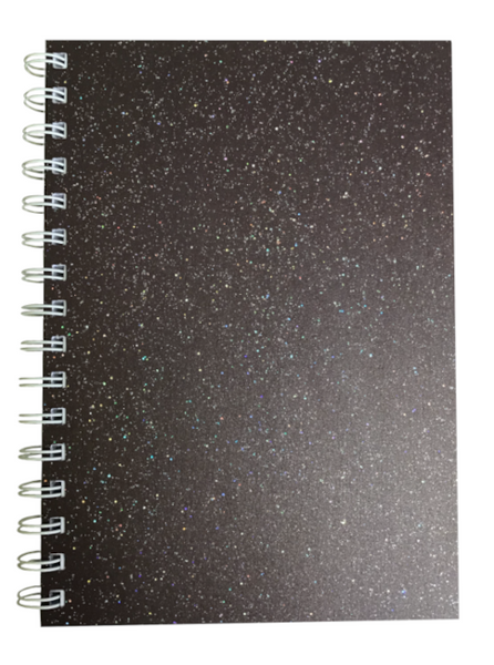 Various Colours Sparkle Pearlised A5 Plain Notepad 80gsm 70 Sheets