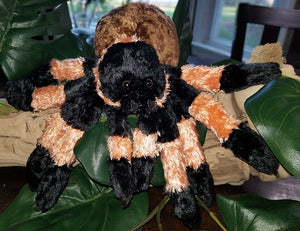 "A Plush Tarantula / Spider. 16"" leg span! Handling of this species is encouraged. THIS IS NOT A LIVE SPIDER! Shipped only with live spider purchase."