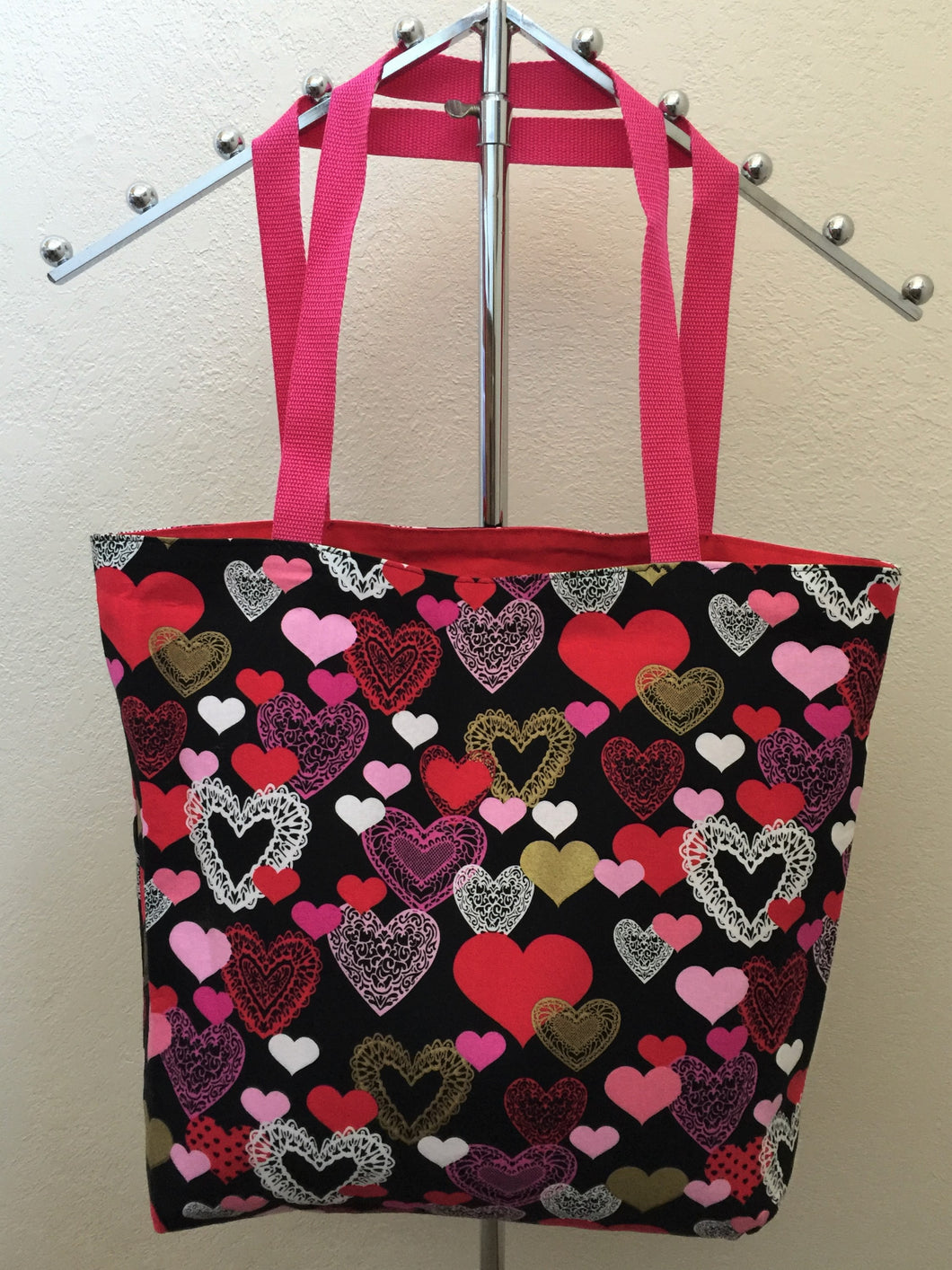 Multi-Color Hearts on Black