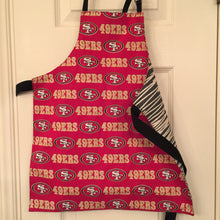 Load image into Gallery viewer, SF 49er Child and Tiny aprons (pair)