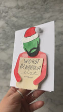 Load and play video in Gallery viewer, The Worst Behaviour List Drake Christmas Card