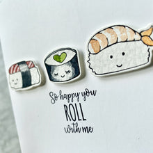 Load image into Gallery viewer, The Roll with Me Sushi Card