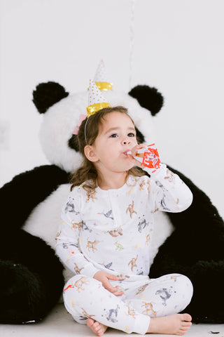 Jungle Party Two Piece Pajamas- PREORDER ships late January