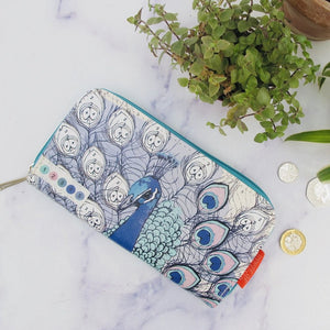 Colour Me Peacock Wallet - Swallow's Nest Crafts