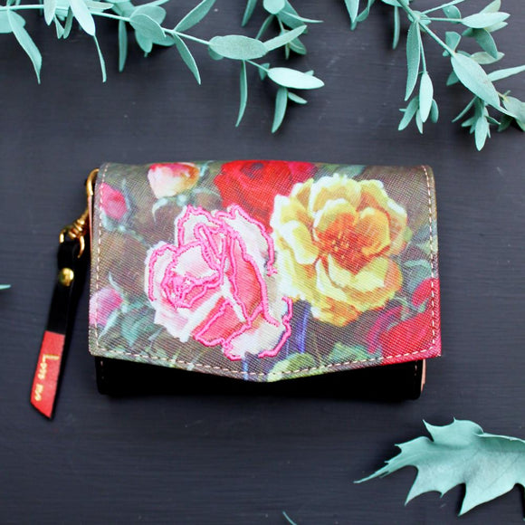 Framed Floral Purse - Swallow's Nest Crafts