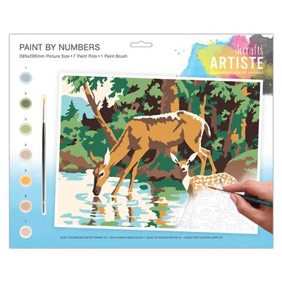 A3 paint by numbers - Woodland Deer