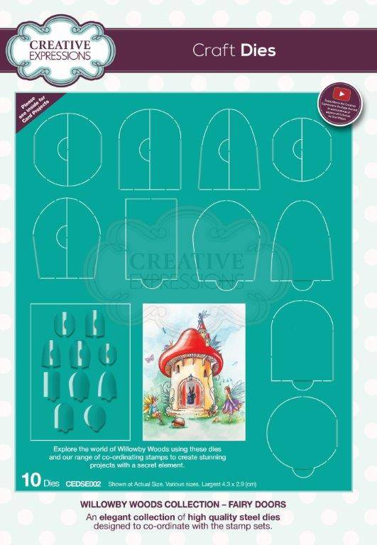 Creative Expressions Willowby Woods – Fairy Doors Craft Die
