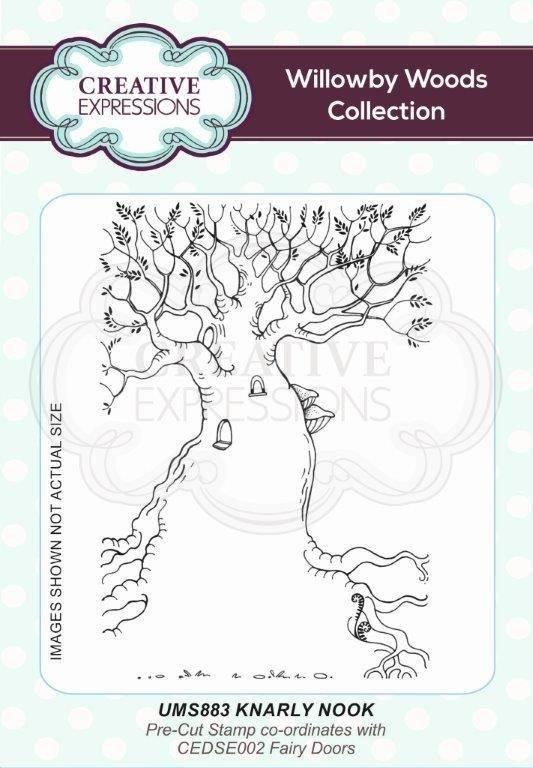 Creative Expressions Knarly Knook A6 Pre Cut Rubber Stamp