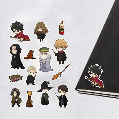 Harry Potter & Wizarding World Sticker - Karakterler Manga Style İcons Set