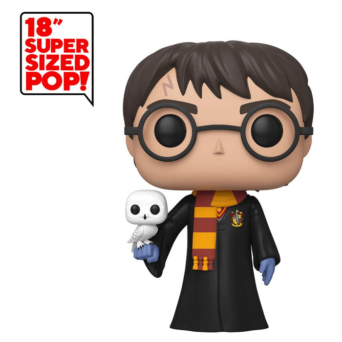 "Funko POP Deluxe Figür - Harry Potter, 18"" Harry Potter ve Hedwing"