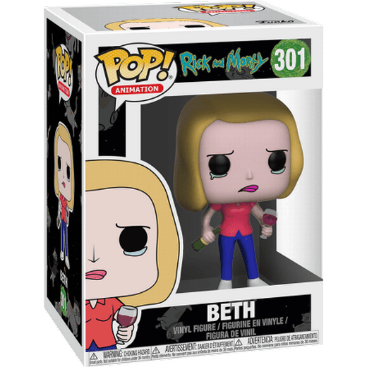 Funko POP Figür - Rick and Morty, Beth with Wine Glass