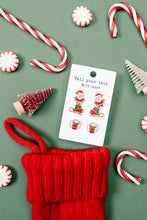 Load image into Gallery viewer, Santa Earring Set