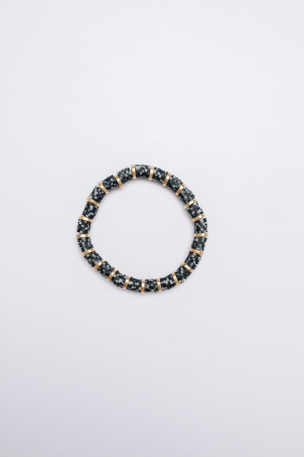 Up Late Beaded Bracelet Black